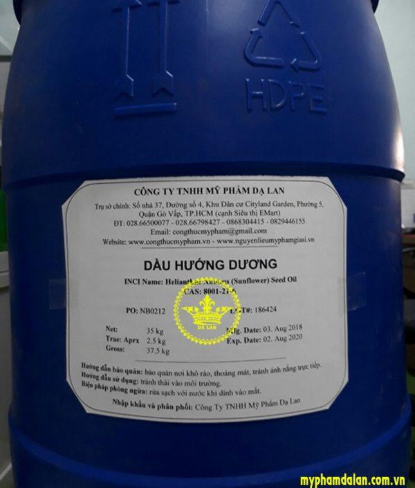 Bán dầu hướng dương giá sỉ - Cung cấp nguyên liệu mỹ phẩm tại TPHCM