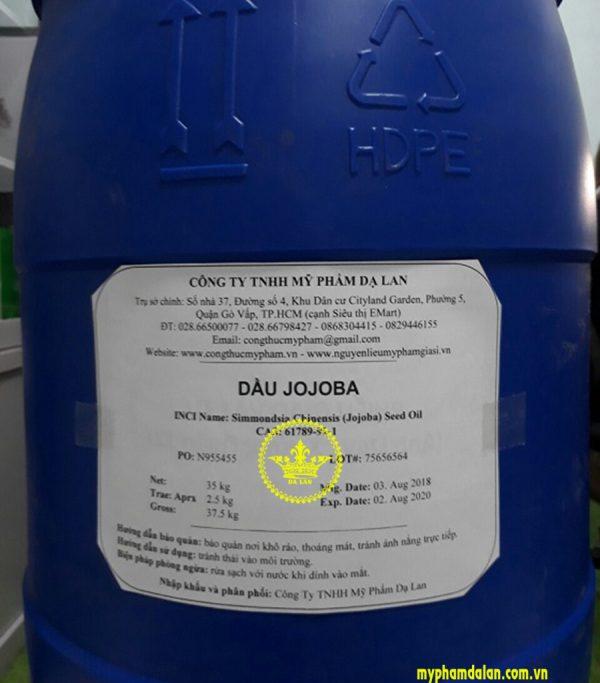 Cung cấp dầu nền jojoba – Bán nguyên liệu mỹ phẩm tại TPHCM