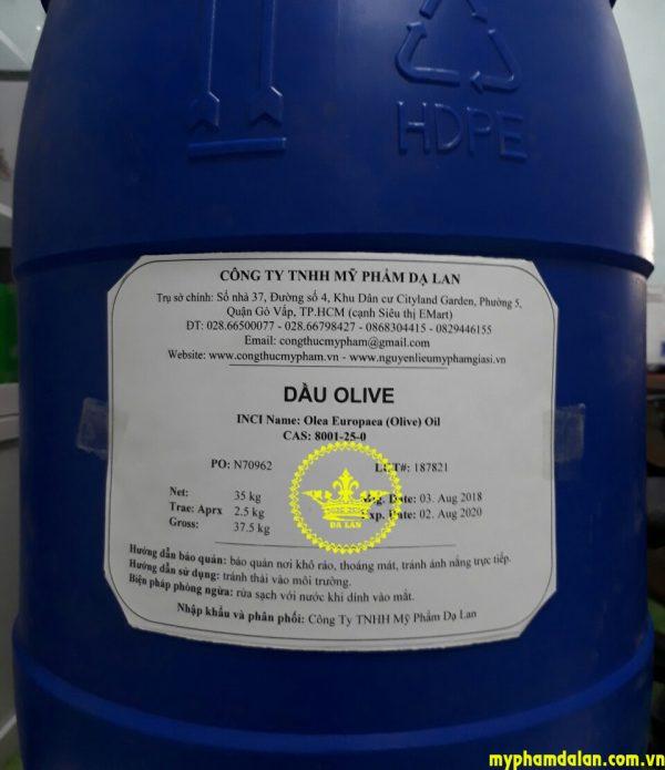 Bán dầu olive giá sỉ - Bán nguyên liệu mỹ phẩm tại TPHCM