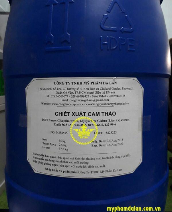 Bán chiết xuất cam thảo (Licorice Root Extract) – Bán nguyên liệu mỹ phẩm