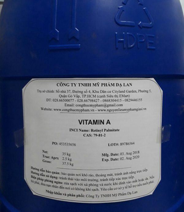 Bán Vitamin A giá sỉ, số lượng nhỏ/lớn – Cung cấp nguyên liệu mỹ phẩm