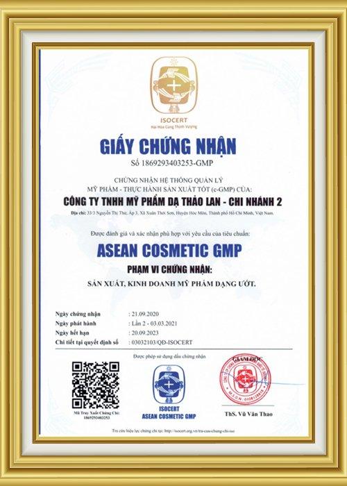 Giấy chứng nhận nhà máy đạt chuẩn c-GMP