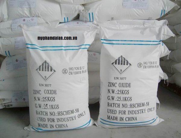 Kẽm oxit nguyên liệu mỹ phẩm – Bán nguyên liệu làm mỹ phẩm giá rẻ